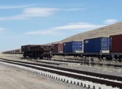 قطار شحن تركي ينطلق نحو الخارج بـ 82 حاوية تصدير