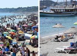 صور تظهر اختلافًا صارخًا بين شواطئ تركيا والمملكة المتحدة