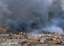 70قتيلا و3700 جريح في انفجار مرفأ بيروت