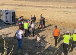 عشرات الإصابات في سقوط حافلة جنوب تركيا