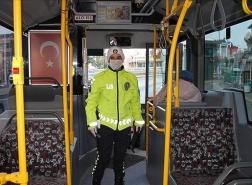 ارتداء القفازات في وسائل النقل أصبح إلزاميًا بهذه المدينة التركية