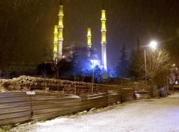 بدء تساقط الثلوج في اسطنبول