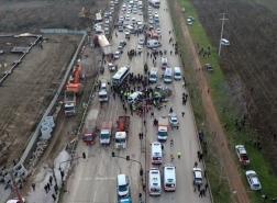 3 قتلى وإصابات خطيرة بتصادم مروع في شمال غرب بورصة