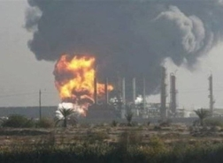 حريق في مصفاة النفط الرئيسية في حمص السورية