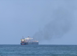 حريق في سفينة شحن قبالة سواحل إسكندرون التركية