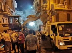انهيار عقار مكون من 5 طوابق شمالي مصر وسقوط ضحايا