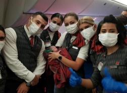 امرأة تلد على متن الخطوط الجوية التركية
