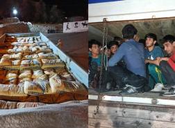 ضبط 78 مهاجرا مختبئين تحت أكياس الأسمنت في شاحنة بشرق تركيا