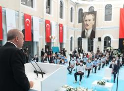 شاهد بالصور.. ماذا قال أردوغان في أول أيام افتتاح المدارس بتركيا؟