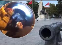 حاول التقاط صورة فوقع في الفخ.. رجل يعلق داخل مدفع تاريخي بإسطنبول