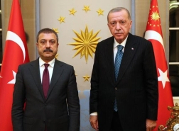 لقاء مغلق بين أردوغان ومحافظ البنك المركزي التركي في أنقرة