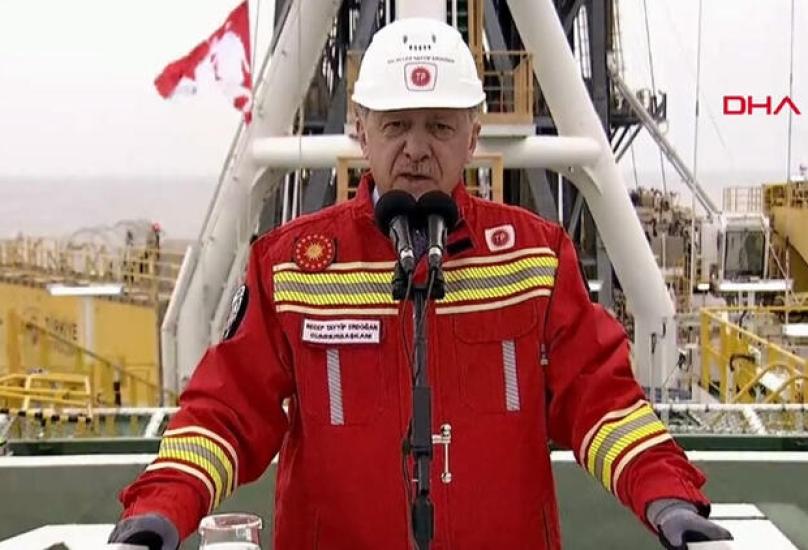 أردوغان يتحدث في مؤتمر من على متن سفينة الفاتح في البحر الأسود - حرييت