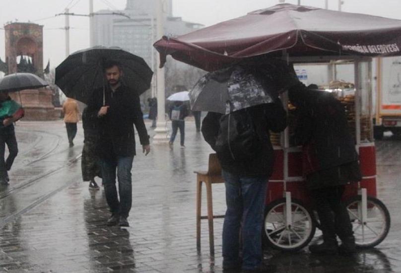 الطقس الممطر في اسطنبول