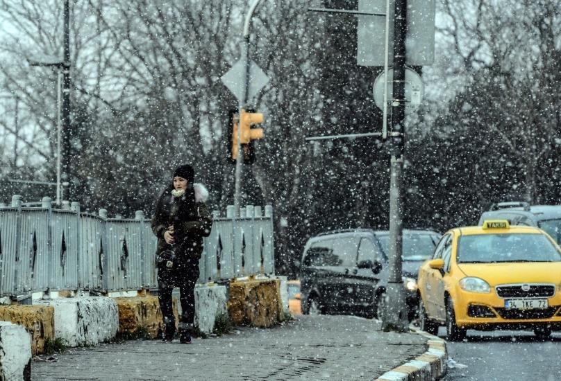 تساقط الثلوج في إسطنبول-صورة أرشيفية