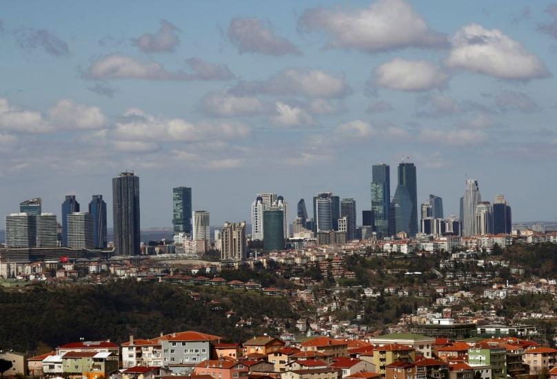 ناطحات سحاب في حي ليفنت التجاري والمالي في إسطنبول