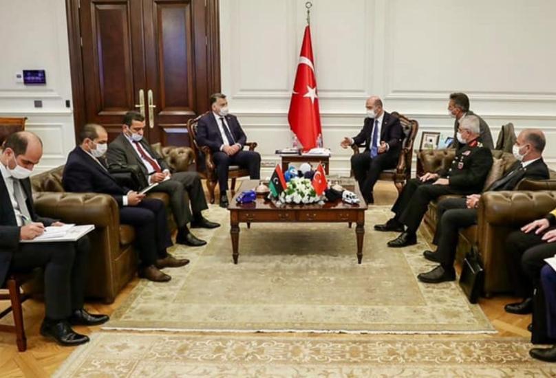 وزير الداخلية التركي يستقبل نظيره الليبي في أنقرة