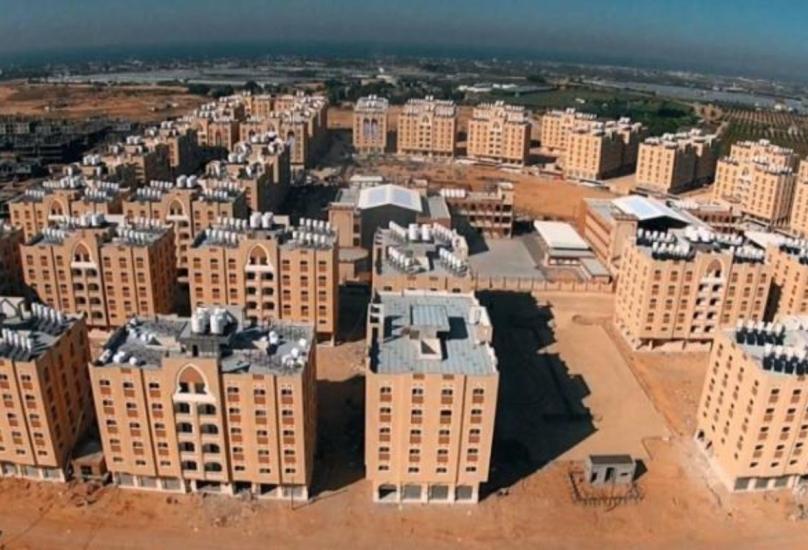 إحدى المدن السكنية بغزة الممولة من دولة قطر-صورة أرشيفية