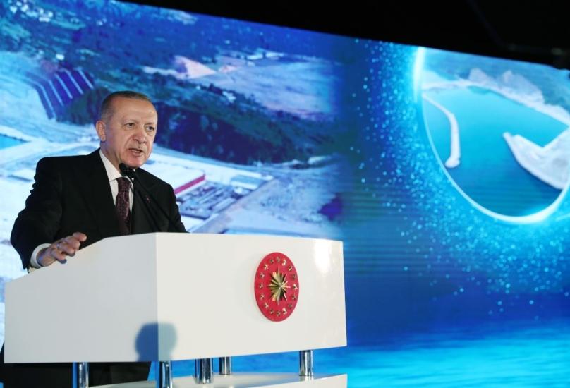 الرئيس أردوغان يلقي كلمة في زونغولداق على البحر الأسود