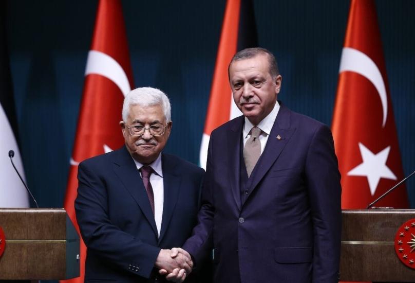 الرئيس التركي خلال لقاء سابق مع نظيره الفلسطيني