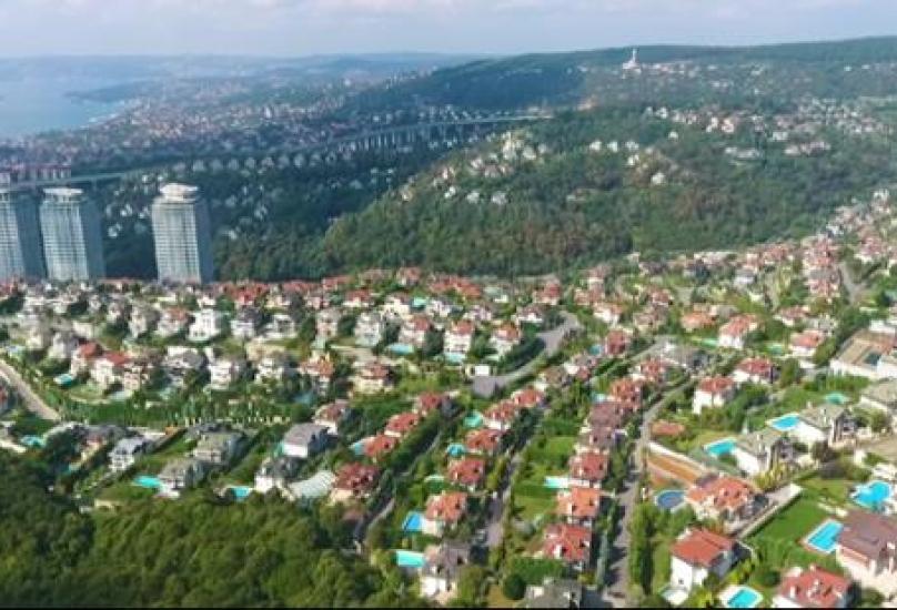 أحد أحياء وسط مدينة اسطنبول