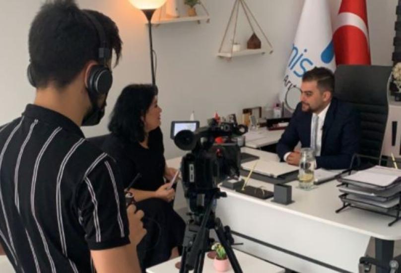 مدير المبيعات في الشركة عبد الرحمن الوتاري يتحدث للقناة الثامنة التركية