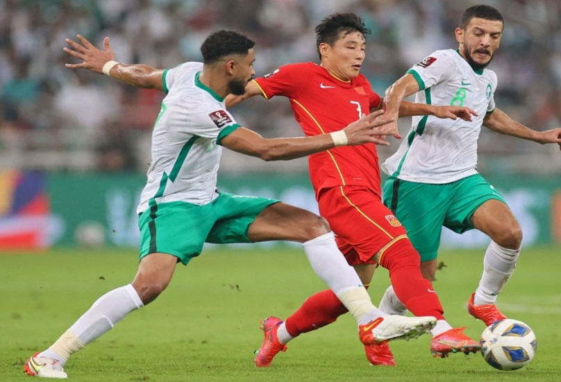 من مباراة السعودية والصين